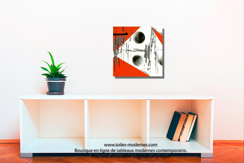 Tableau dessins g om triques abstraits blanc et noir for Envie de meuble