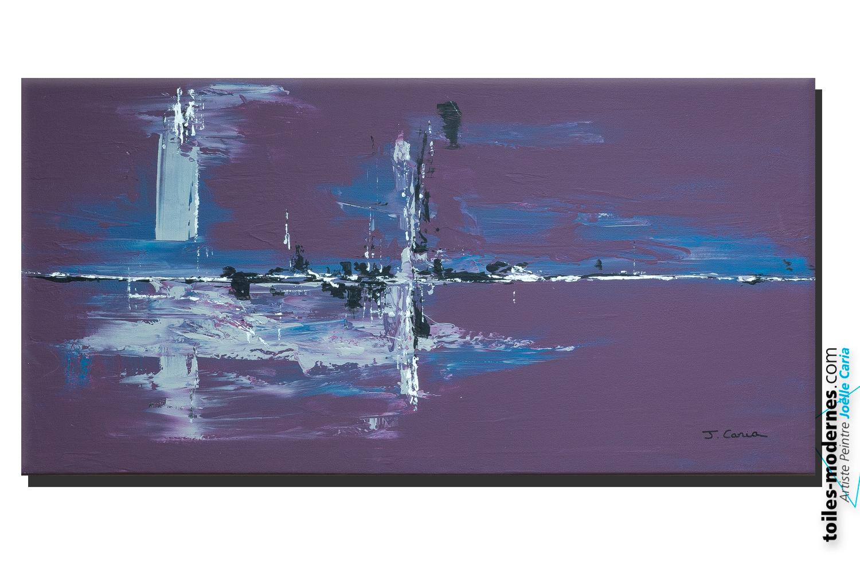 Gris Chambre A Coucher : Tableau violet aubergine moderne grand format horizontal nouveauté …