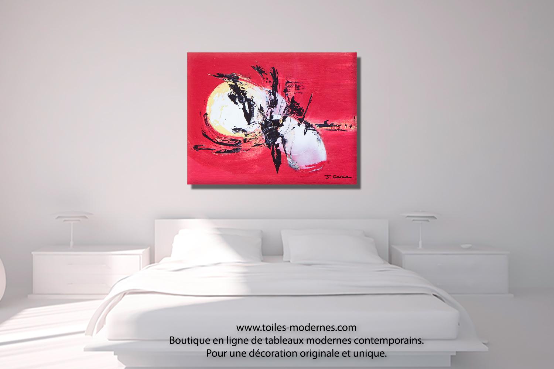Top tableau design rouge wallpapers - Tableau contemporain abstrait design ...