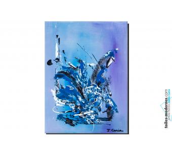 d co bleu gris avec ce grand tableau panoramique contemporain xxl oasis de libert une pi ce. Black Bedroom Furniture Sets. Home Design Ideas