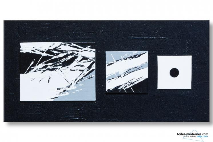 Cr ation exclusive design noir et blanc langage et for Tableau minimaliste