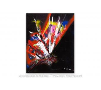 Tableau contemporain noir : La vie la nuit