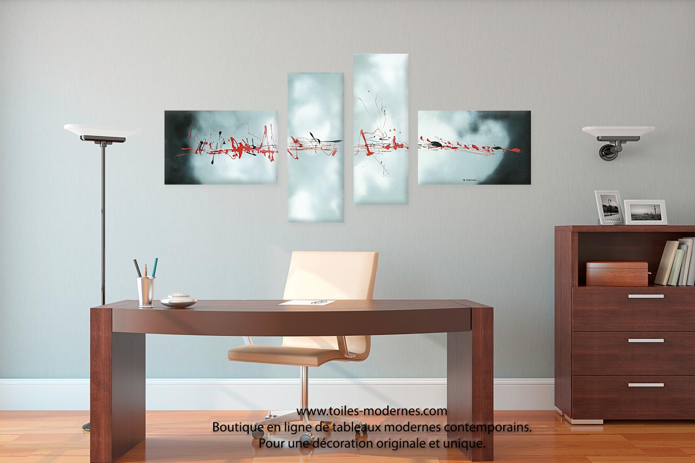 d coration bureau tableau d co sphair. Black Bedroom Furniture Sets. Home Design Ideas