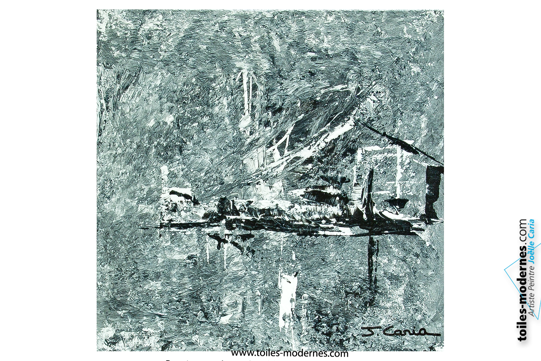 Tableau design gris pas cher oeuvre d 39 art moderne ch ssis en bois pour un - Tableau peinture moderne pas cher ...