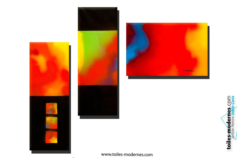 Id es cadeaux originaux d 39 achat pour d coration tableau for Tableaux modernes colores