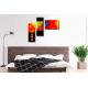 Tableau coloré au-dessus d'un lit Une vie toute en couleurs
