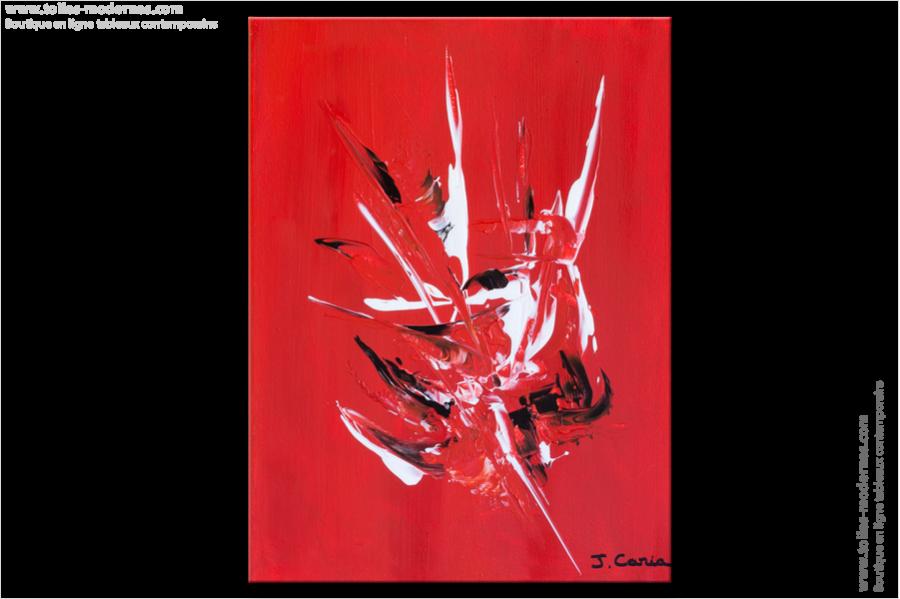 Tableau moderne rouge vertical tendance tableau for Tableau de decoration moderne