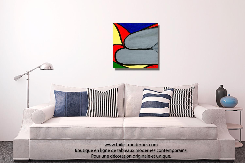 Tableau nu d 39 art moderne color carr prix avantageux - Tableau d art moderne ...