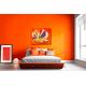 Tableau chambre déco orange La grande évasion
