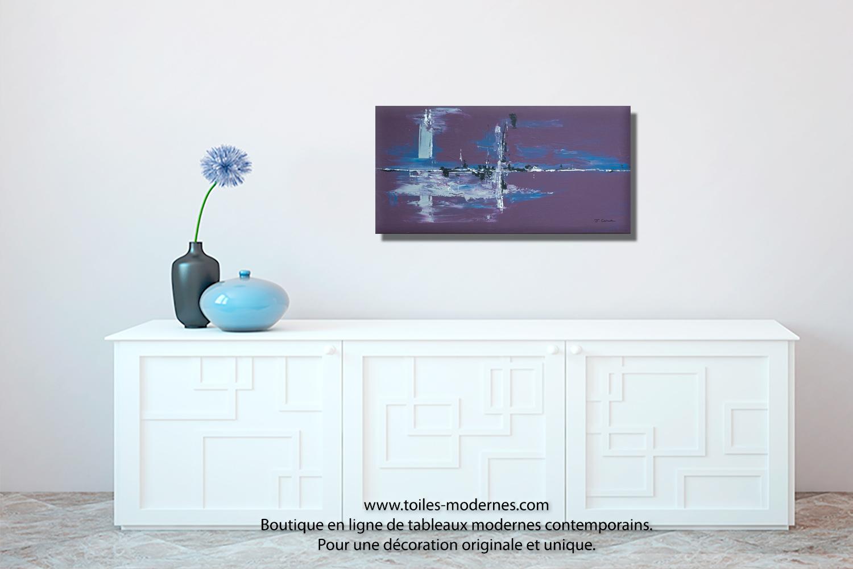 tableau violet aubergine moderne grand format horizontal nouveaut art d co pas ch re. Black Bedroom Furniture Sets. Home Design Ideas
