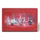 Tableau Art déco rouge Océans