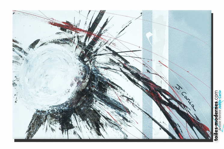 Tableau blanc gris Abstraction