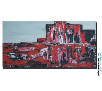 Tableau art déco Vision rouge et noire