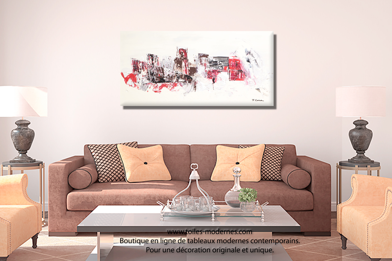 elegant tableau de salon grande toile abstraite mer beige clair format panoramique cration with tableau coran moderne
