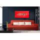 Tableau décoratif salon Ville aquatique (rouge)