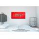 Tableau décoratif chambre Ville aquatique (rouge)