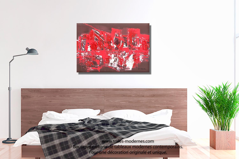 tableau dessus de lit elegant etagare au dessus du lit peinture gris perle avec lit en gris et. Black Bedroom Furniture Sets. Home Design Ideas