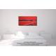 Tableau chambre art contemporain Les montagnes (rouge)