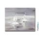 Tableau gris blanc grand format Voyage en mer