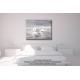 Tableau gris blanc déco chambre Voyage en mer