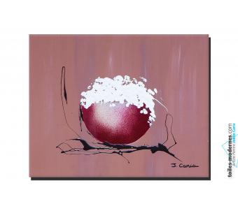 Tableau marron contemporain Crème chantilly