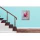 Tableau déco escalier moderne gris rouge  Mousse chantilly