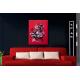 Tableau abstrait rouge noir salon moderne Réflexion