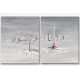 Tableau RED BOATS moderne