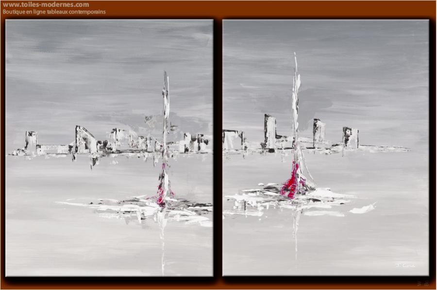 tableau moderne grand format rectangle gris tableau contemporain xxl panoramique gris. Black Bedroom Furniture Sets. Home Design Ideas