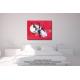Idée déco chambre rouge tableau abstrait Libération