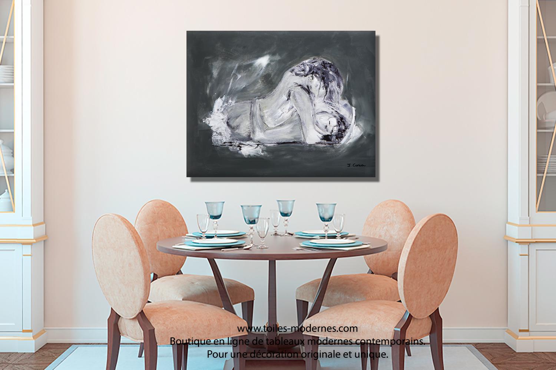 tableau decoratif gris
