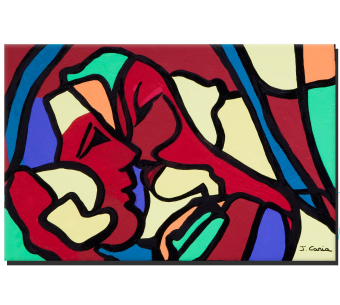 Tableau baiser coloré Accord parfait