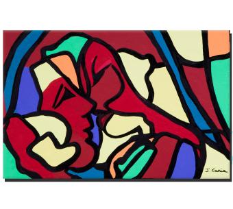 Tableau déco coloré Accord parfait moderne