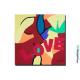 Tableau contemporain coloré thème Amour The kiss