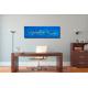 Tableau moderne bleu grand panoramique dans bureau Oasis de fraîcheur