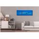 Tableau contemporain bleu grand panoramique dans salon Oasis de fraîcheur