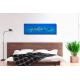 Tableau contemporain bleu grand panoramique déco chambre Oasis de fraîcheur
