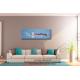 Cadre panoramique bleu gris sur mur taupe Evolution