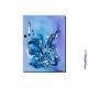 Tableau bleu parme contemporain Légèreté