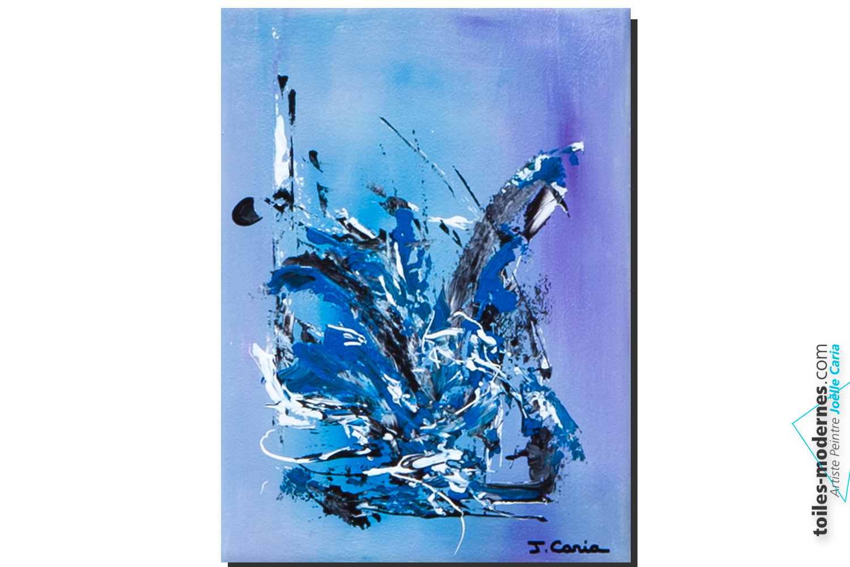tableau moderne bleu canard