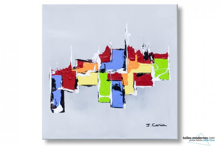 Tableau moderne gris clair abstrait Composition harmonieuse
