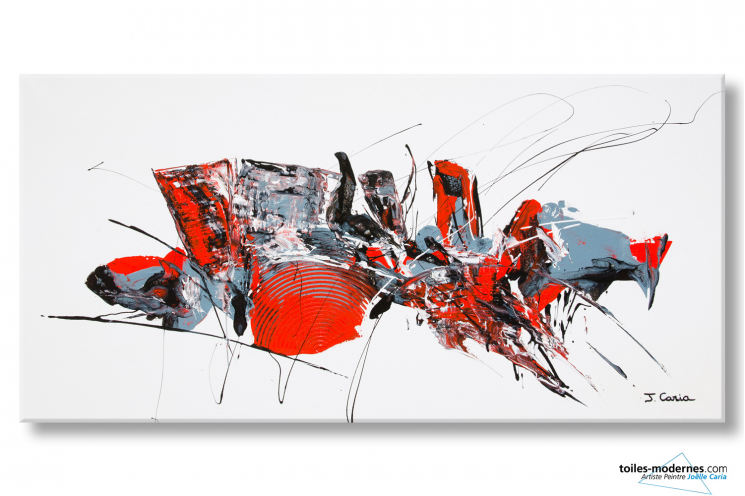 Tableau contemporain blanc abstrait Bataclan