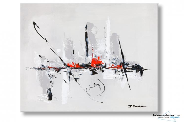 Tableau gris clair abstrait ballade en ville format for Reproduction de tableaux modernes