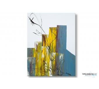 Tableau blanc abstrait Festivité moderne