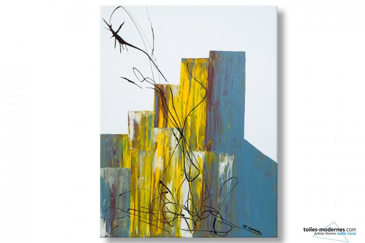 Tableau blanc abstrait Festivité déco moderne