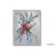 Tableau moderne création gris rouge Vol de libellule