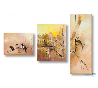 Tableau marron abstrait Douceur d'automne moderne