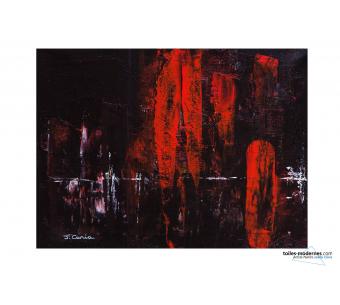 Tableau abstrait noir Considération moderne