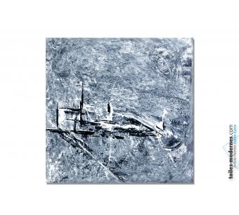 Tableau Abstrait gris Songerie moderne