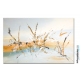 Grand tableau gris beige art contemporain Les insectes
